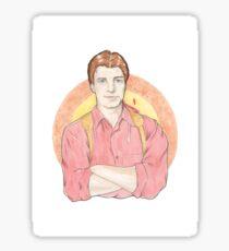 Watercolour Fanart Illustration of Malcolm 'Mal' Reynolds from Joss Whedon's Firefly Sticker