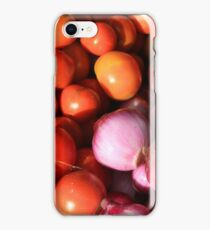 Tomatoes Onions and Peppers iPhone Case/Skin