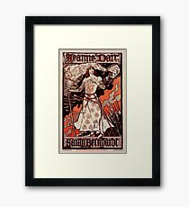 "Vintage French Poster for the play ""Joan of Arc"" with Sarah Bernhardt Framed Print"