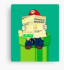 pooping Mario Canvas Print
