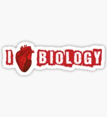 I Love Biology Sticker