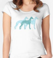 Paisley whippet trilogy Women's Fitted Scoop T-Shirt
