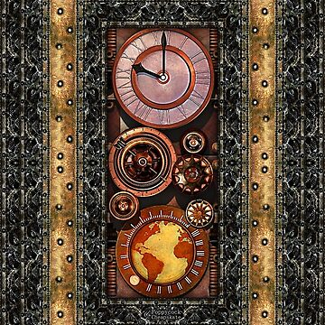 Elegant Steampunk Timepiece Steampunk phone cases by SC001