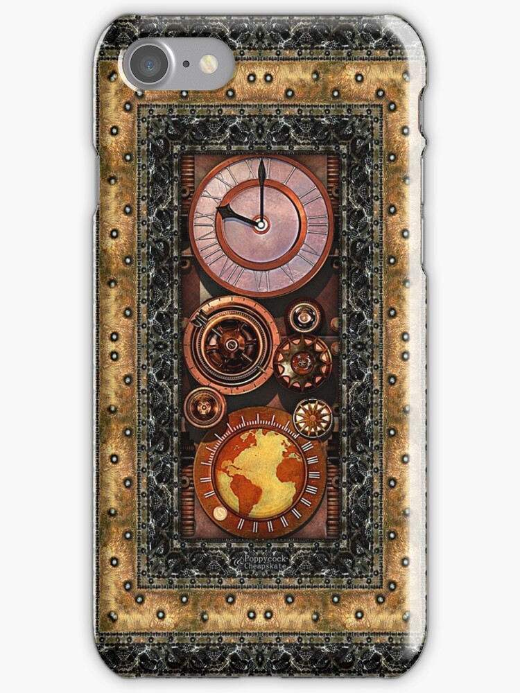Elegant Steampunk Timepiece Steampunk phone cases by Steve Crompton