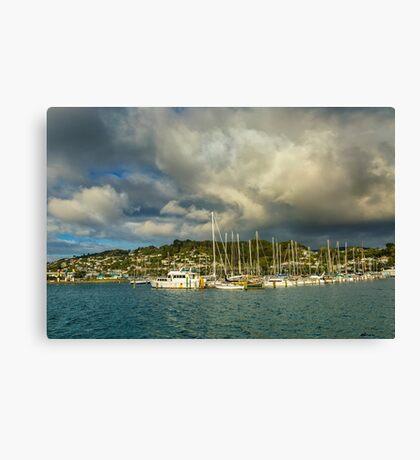 Early Morning After the Rain, at Evans Bay Marina Canvas Print