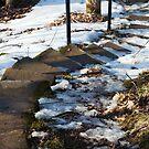Snowy Stairway by Jordyn Kirk