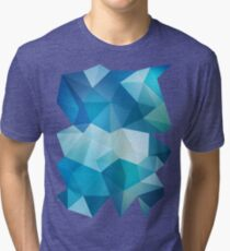 Abstract Geometric Polygon Sea Tri-blend T-Shirt