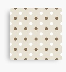 Dotted pattern or background ( brown ) Canvas Print