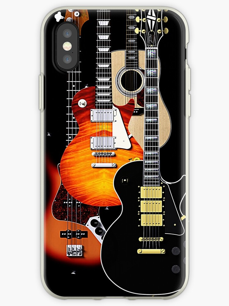 Four guitars phone cases by Steve Crompton