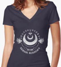Senshi Academy Women's Fitted V-Neck T-Shirt