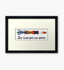 Ceci n'est pas un Sonic Screwdriver Framed Print