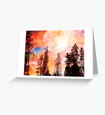Sunset Collage Greeting Card