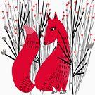 Fox in Shrub by elenor27