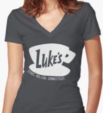 Luke's Diner - Gilmore Girls Women's Fitted V-Neck T-Shirt