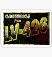 greetings lv426 Sticker