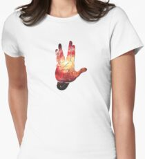 Deep Space Galaxy (Messier 101 Remix) Womens Fitted T-Shirt