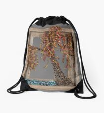 Autumn Willow Tree - Dark Drawstring Bag