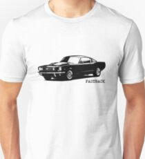 The 1965 Mustang Fastback Unisex T-Shirt