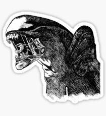 Alien Art Sticker