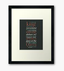 Deadliest Piece - Queen Framed Print