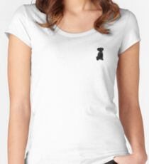 Cute Preppy Black Lab Puppy Dog Women's Fitted Scoop T-Shirt