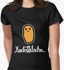 Kartöffelschn (Weiß) Women's Fitted T-Shirt