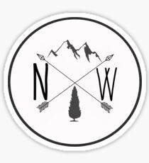 Northwest is Best - Peaks version Sticker