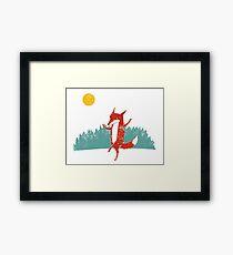 Fox dance  Framed Print
