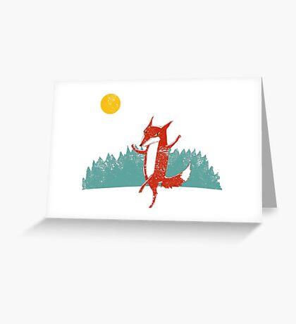 Fox dance  Greeting Card