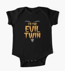 I'm the EVIL TWIN funny Halloween costume Kids Clothes