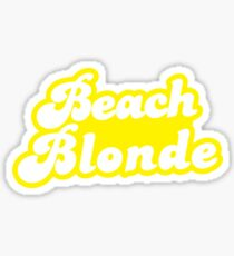 Beach blonde in yellow Sticker