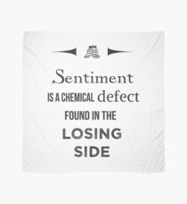 Sherlock Holmes sentiment quote [black and white] Scarf