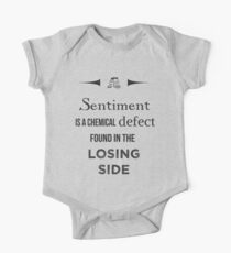 Sherlock Holmes sentiment quote [black and white] One Piece - Short Sleeve