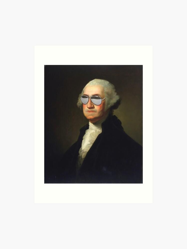 photograph regarding Printable Pictures of George Washington called President George Washington Swag Gles Portrait Artwork Print