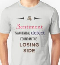 Sherlock Holmes sentiment quote [colored] T-Shirt