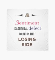 Sherlock Holmes sentiment quote [colored] Scarf