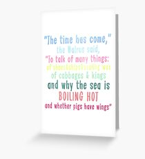 The Time Has Come Greeting Card
