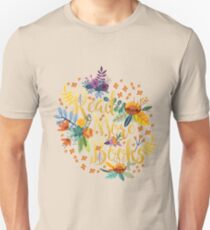 Read More Books - Floral Gold - Black T-Shirt