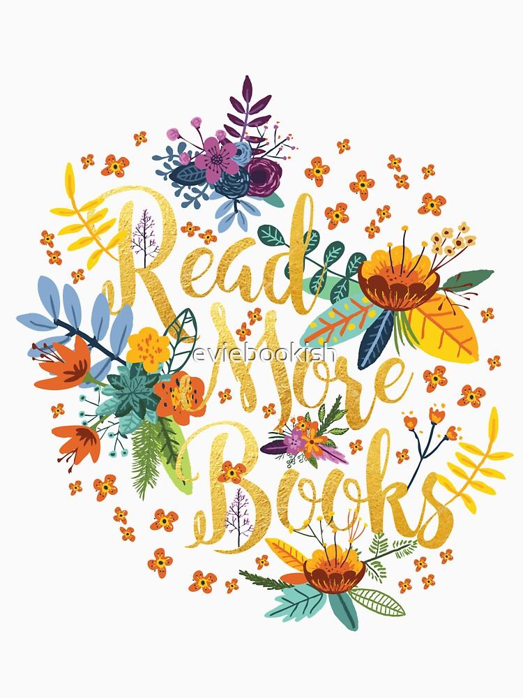 Lesen Sie mehr Bücher - Floral Gold - Schwarz von eviebookish