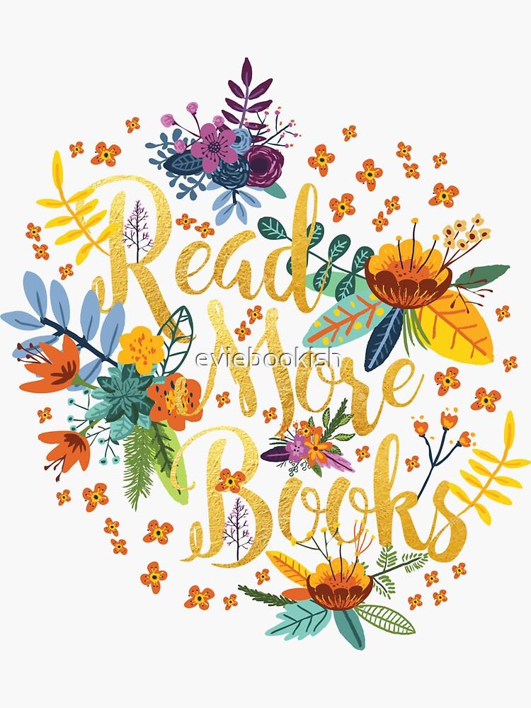 Leer más libros - Floral Gold - Black de eviebookish