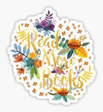 Pegatina Leer más libros - Floral Gold - Black