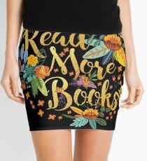 Lesen Sie mehr Bücher - Floral Gold - Schwarz Minirock
