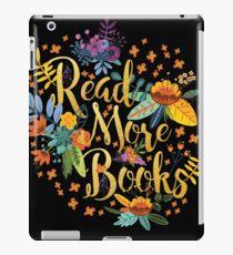 Lesen Sie mehr Bücher - Floral Gold - Schwarz iPad-Hülle & Klebefolie