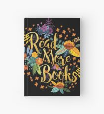 Read More Books - Floral Gold - Black Hardcover Journal