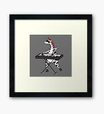 Zebra Keyboard Framed Print