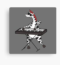 Zebra Keyboard Canvas Print