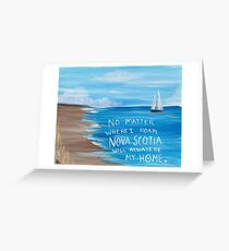 Nova Scotia Sailboat  Greeting Card