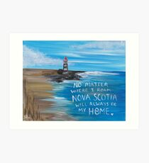 Nova Scotia Lighthouse Art Print