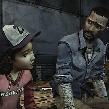 The Walking Dead-Clementine and Lee by Blueasaurs
