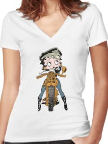 Ms. Betty Is A Great Bike Rider Women's Fitted V-Neck T-Shirt